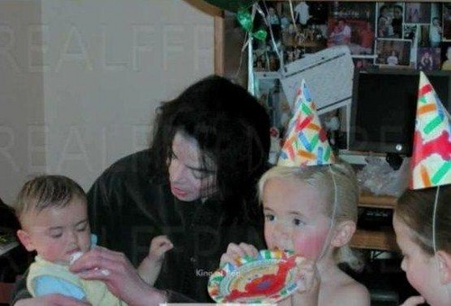 Michael and his children