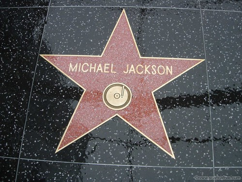 Michael Jackson achtergrond called Michael's ster On The Hollywood Walk Of Fame