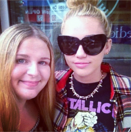 Miley And Fans.