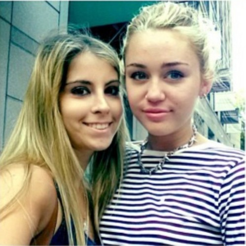Miley With Fans.