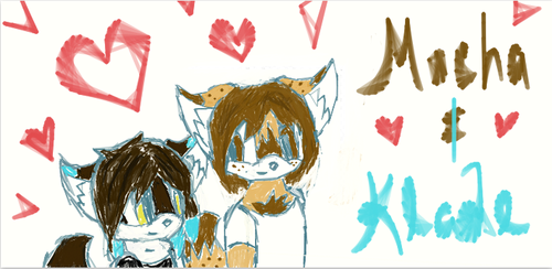 Mocha and Klade ( I drew this with a tablet)