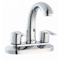 Modern Two Handles Centerset Bathroom Sink Faucet