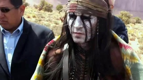 Johnny Depp wallpaper possibly containing a surcoat, a tabard, and a lippizan titled più pics of Tonto:)