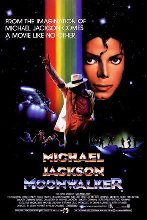 "Movie Advertisement Poster For The Motion Picture, ""Moonwalker"""
