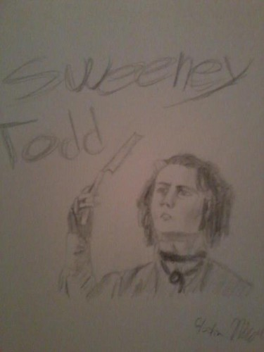 My drawing of Sweeney Todd