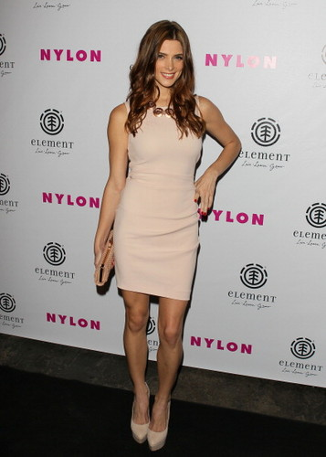 Ashley Greene wallpaper containing a cocktail dress and a portrait entitled NYLON Magazine August Issue Launch Party Hosted By Ashley Greene in Los Angeles