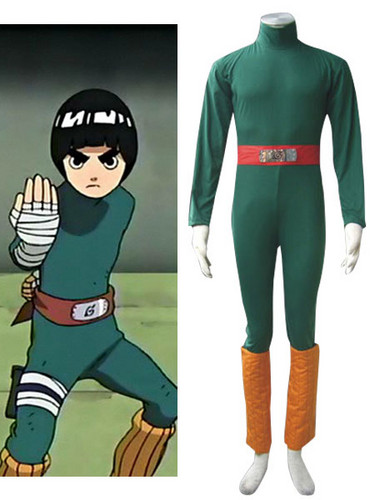 नारूटो Rock Lee Cosplay Costume