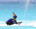 Nathan Sykes Jetskiing at Sandy Lane ビーチ in Barbados