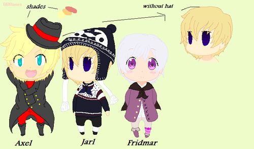 New OCs: Axel, Jarl & Fridmar