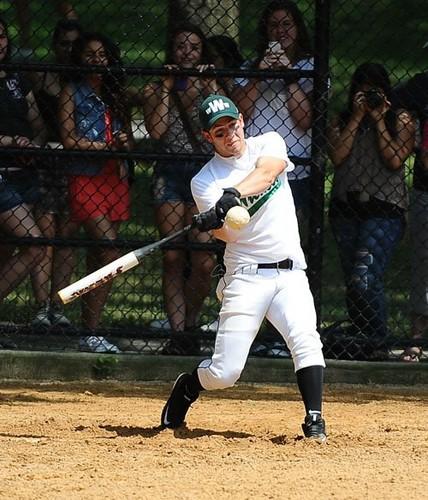 Nick Jonas softball