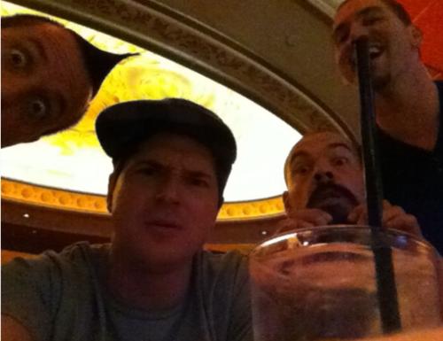 Nick drinking Aaron-tini