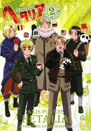 hetalia fondo de pantalla containing a green boina titled Official Artwork