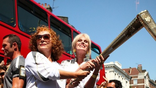 Absolutely Fabulous wallpaper entitled Olympic torch relay
