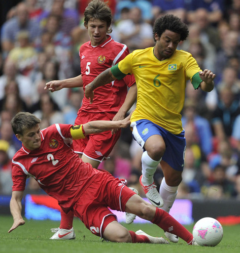 Olympics araw 2 - Men's Football - Brazil v Belarus