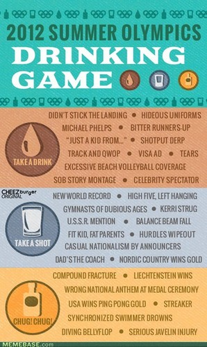 Olympics drinking game XD