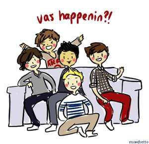 One Direction wallpaper with anime called One Direction Cartoon♥