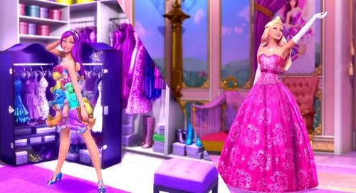 Barbie the Princess and the popstar wallpaper titled PaP Screencaps