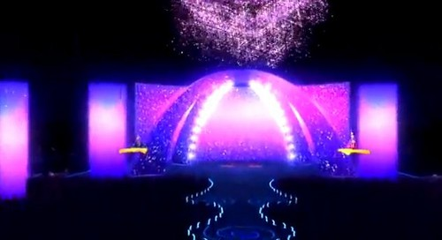 Barbie the Princess and the popstar wallpaper containing a fountain called PaP Screencaps
