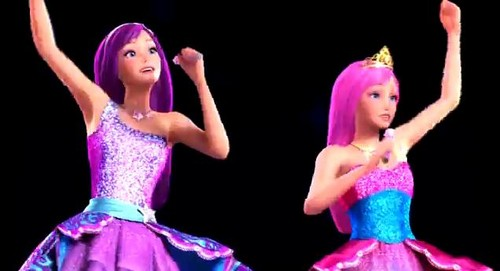 Barbie the Princess and the popstar wallpaper probably with a dinner dress and a gown called PaP Screencaps