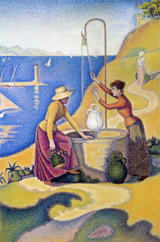 Paul Signac. Women at the Well, 1892