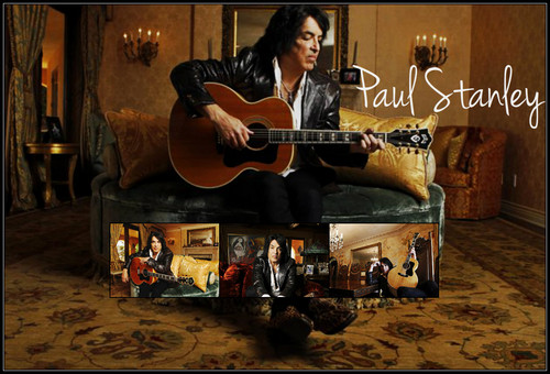 Paul Stanley wallpaper possibly with a guitarist and an acoustic chitarra entitled Paul ♥
