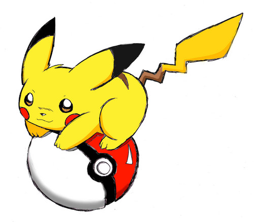 পিকাচু with pokeball