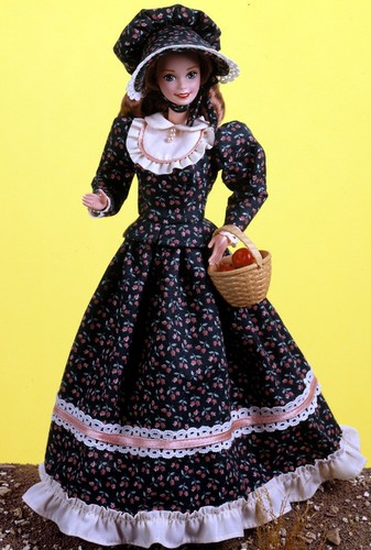 Barbie: Dolls Collection wallpaper with a hoopskirt entitled Pioneer Barbie® Doll 1995
