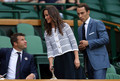 Pippa Middleton and James Middleton arrive to Centre Court