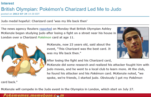 Pokemon changes lives //Olympics2012 - pokemon Photo