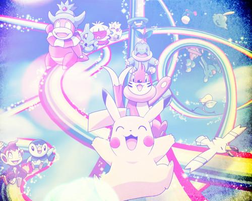 Pokémon achtergrond possibly with anime titled Pokemon - achtergrond (made it myself)