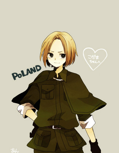 Hetalia Poland wallpaper probably containing an outerwear and a hood called Poland
