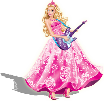 Filem Barbie kertas dinding called Princess and the Popstar