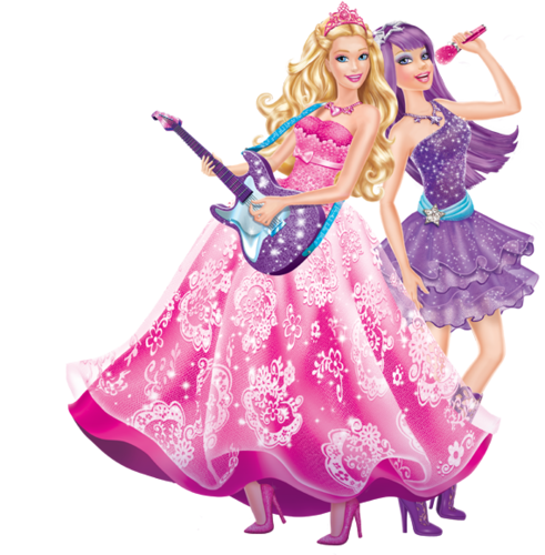 Barbie films achtergrond possibly with a polonaise entitled Princess and the Popstar
