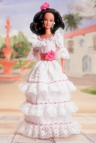 Barbie: Dolls Collection wallpaper containing a bridesmaid and a gown called Puerto Rican Barbie® Doll 1997
