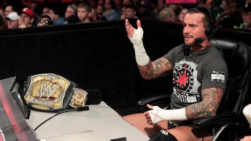 Punk observes Cena vs Zeigen