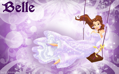 Purple Belle Wallpaper