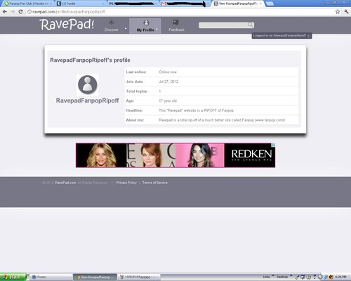 Ravepad-An outrageous Fanpop Rip-Off!