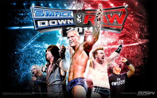 WWE wallpaper possibly with anime entitled Raw vs Smackdown 2011