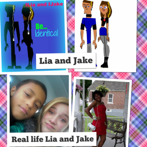 Real life Jake and Lia v.s OC jake and Lia