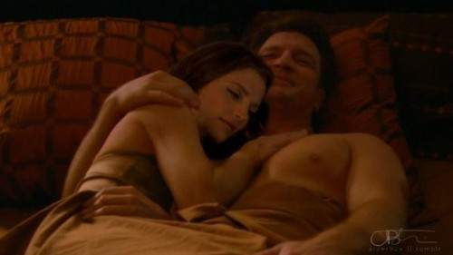 Castle & Beckett wallpaper containing skin titled Rick&Kate-Is it love??