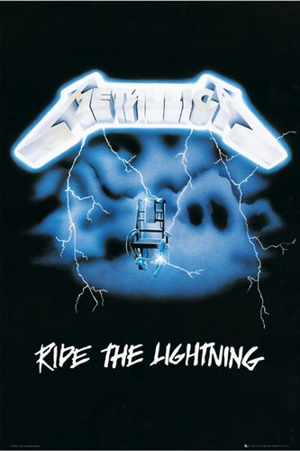 Metallica wallpaper probably containing a sign titled Ride the Lightning
