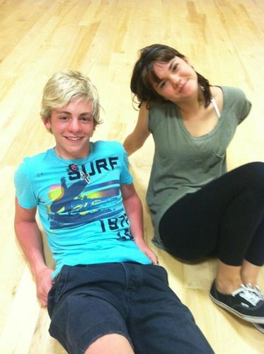 "Ross Lynch and Maia Mitchell during ""Teen Beach Musical"" rehearsals!"