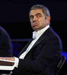 Rowan Atkinson as Mr kacang at the opening ceremony!