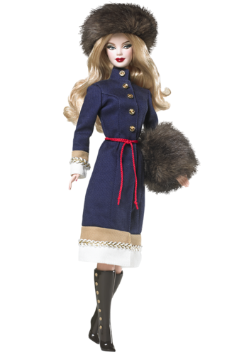 Barbie: Dolls Collection wallpaper probably containing a fur coat and an overgarment entitled Russia Barbie® Doll 2009