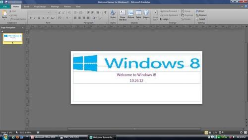 Screenshot for Microsoft Publisher 2010 for Windows Vista