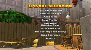 Selection Screen for Operation Ducky DVD
