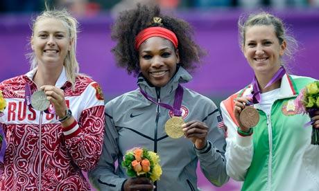 Serena Williams beats Maria Sharapova to secure olympic 网球 gold.