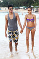 Siva Kaneswaran and Nareesha Mccaffery in Barbados - the-wanted photo