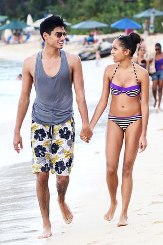 Siva Kaneswaran and Nareesha Mccaffery in Barbados