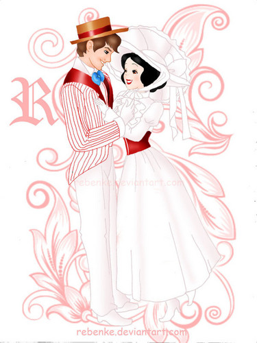 Snow White as Mary Poppins, and Prince Ferdinand as Bert